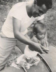 Me & my dad summer of 1952